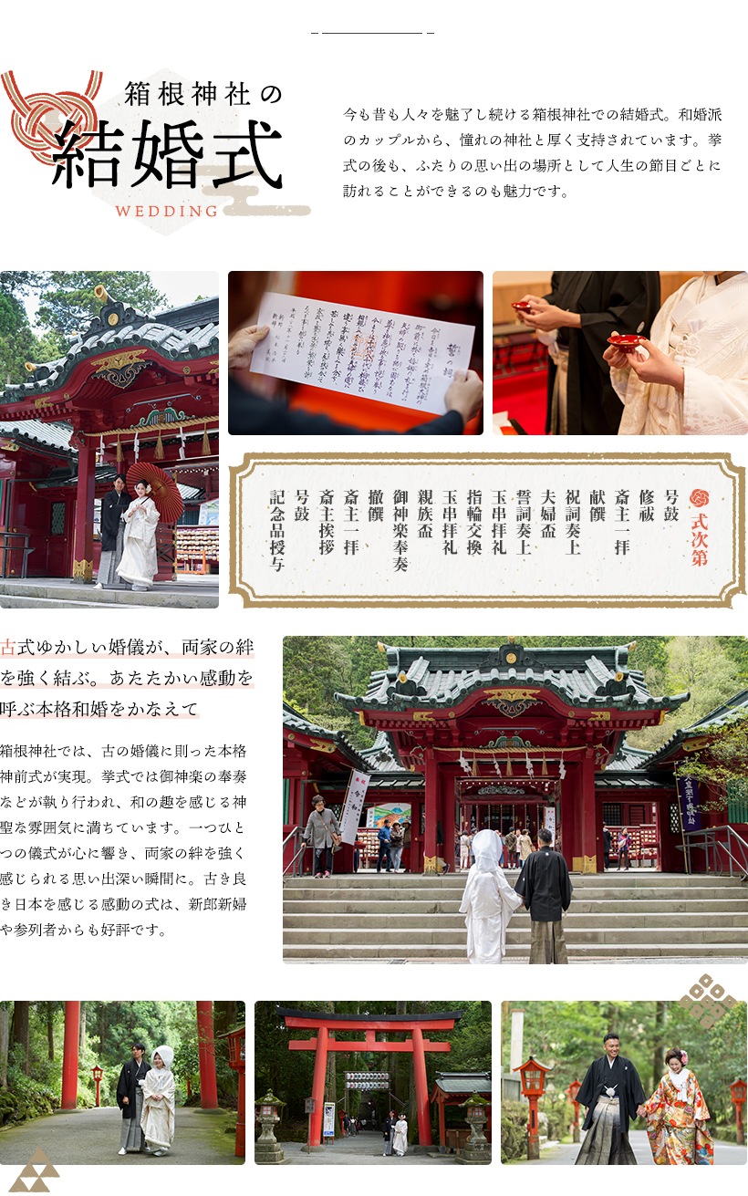 箱根神社の結婚式